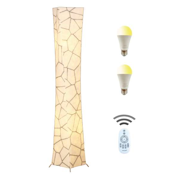 Chiphy marble tall floor lamp with remote