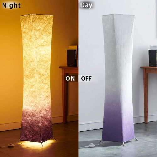 Purple Fabric Art Shaded Dimmable Decor Cool Living Room Lamp