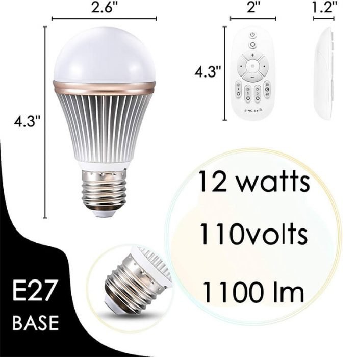 dimmable led night light with remote