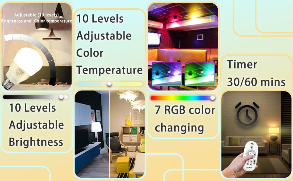 rgb led room lights
